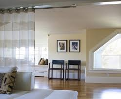 Pretty Outdoor Curtain Rods Fashion Other Metro Beach Style Family Room Decoration Ideas With Angled Window