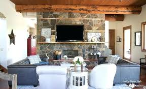 Industrial Farmhouse Living Room From Dining Country