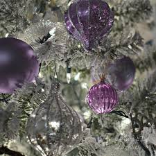 Purple Silver White Themed Christmas Tree Ornaments PlumDoodles