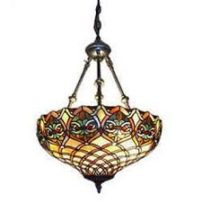 Serena Ditalia Tiffany Style Baroque 2 Light Hanging Lamp