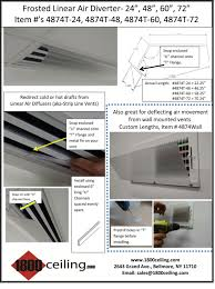 Round Ceiling Air Vent Deflector by Linear Air Diffuser Linear Air Diverter Ceiling Strip Vent