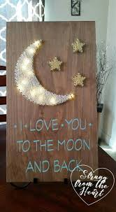 I Love You To The Moon And Back String Art Sign By Strung From Heart