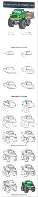 100 How To Draw A Monster Truck Step By Step For Kids
