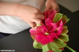 Diy Party Decorations With Kids1 Tissue Paper Flower Arrangement