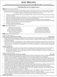 Senior Executive Assistant Resume Sample
