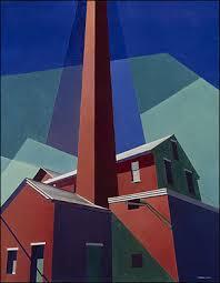 Ballardvale By Charles Sheeler Shows The Armory Effect