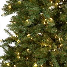 Dunhill Christmas Trees by 7 5 Ft Dual Colored Pre Lit Dunhill Fir Hinged Christmas Tree