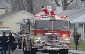 Santa Claus Riding A Fire Truck Is A Big Tradition In Bucks County ...