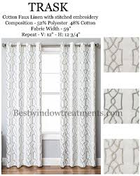 Moroccan Tile Curtain Panels by Trask Heavy Linen Style Curtains New Bestwindowtreatments Com