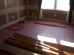 Installing Laminate Floors Over Concrete by Preparing To Install Hardwood Flooring All About The House