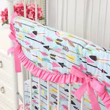 tribal in pink aqua baby bedding caden lane