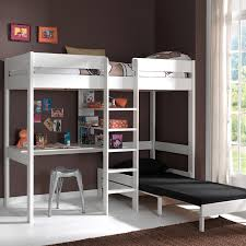 bureau pour mezzanine lit mezzanine en pin pino avec bureau et couchage d appoint prix