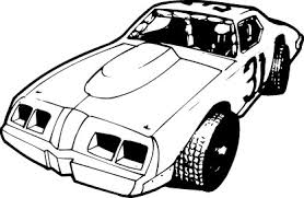 Late Model Race Car Clipart Black And White