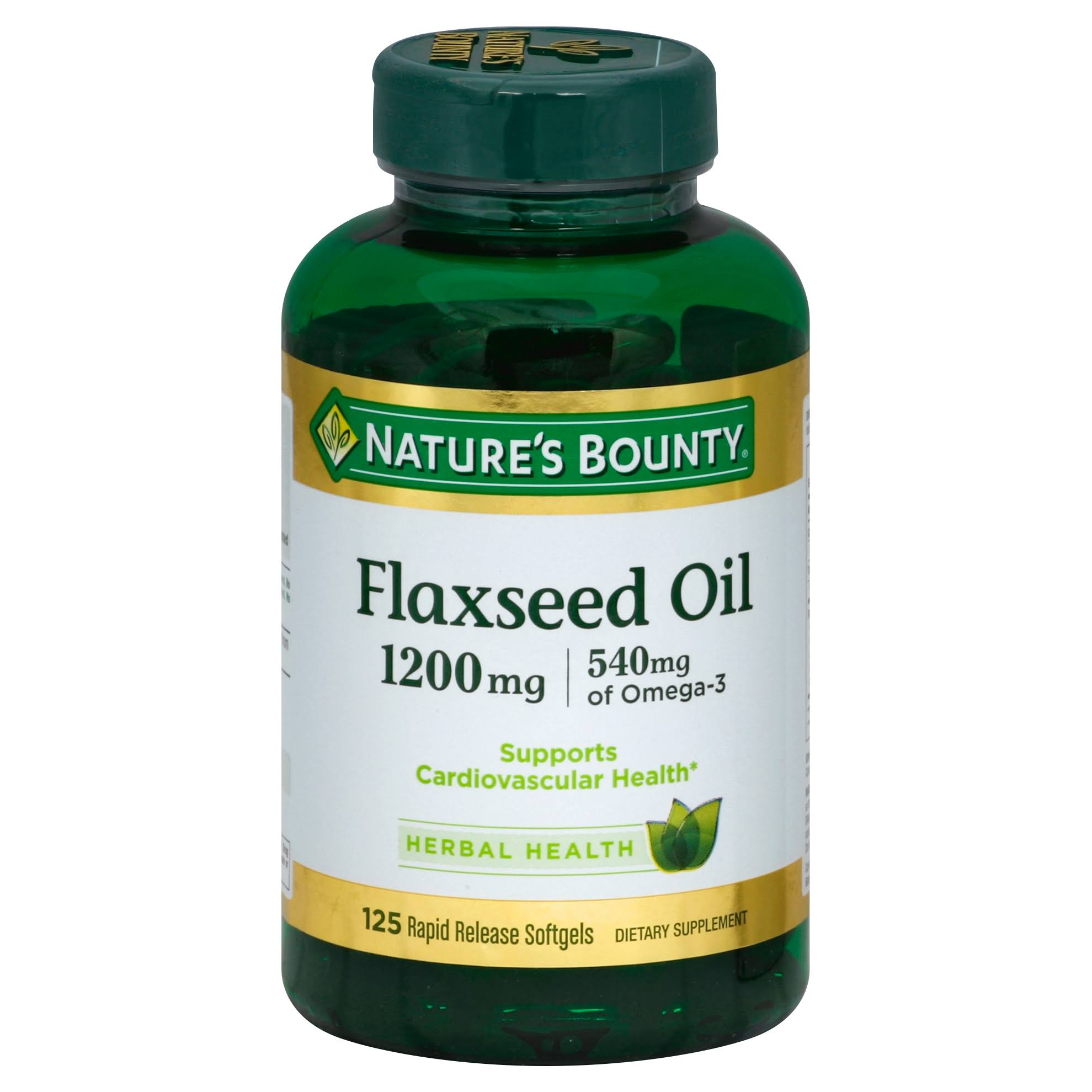Nature's Bounty Flaxseed Oil Supplement - 1200mg, 125 Softgels