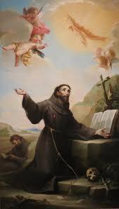 file st francis of assisi receiving the stigmata by salvador
