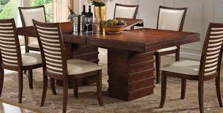 Ocean Bay Transitional 65 83 Wood Dining Table In Cherry Finish