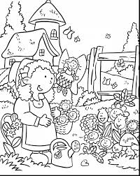 Surprising Flower Garden Coloring Pages With And