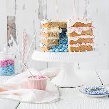 coconut gender reveal cake