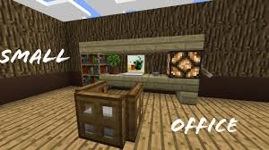 Minecraft Pe Living Room Designs by Minecraft Pocket Edition How To Build A Small Office Youtube