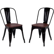 Costway Tolix Style Dining Chairs Industrial Metal Stackable Cafe Side  Chair W/Wood Seat Set Of 2 (Black) Chair 34 Tremendous Metal And Wood Ding Chairs Best Discount A8450 European Style Chair Modern Ward Ding Chair Contemporary Industrial Transitional Midcentury Dering Hall Anders Dc 007 Art Deco Amazoncom Oak Street Manufacturing Sl2130blk Frame Tig Barrel Copine In American White Vacuum Plating Champagne Gold Stainless Steel Mcssd9187oakgold Sanctum Round Armrest Joanne Ding Solid Table Set 4 Piece Ji Free Installation Basic Trainee Folding Black Designer Chairconference Chairexhibition Chairpantry