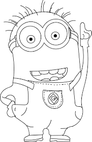 Minion Coloring Pages To Print Unique Printable The Minions Dave Page For Kidsee Online