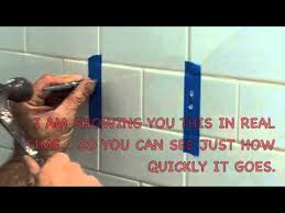how to drill a hole in ceramic tile youtube