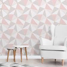 Fine Decor Apex Geo Rose Gold Wallpaper