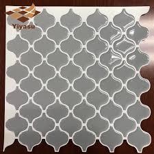 grau arabesque marokkanischen fliesen selbstklebende backsplash 3d mosaik fliesen wand aufkleber vinyl badezimmer küche home decor diy