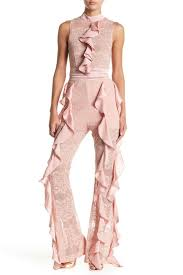 Wow Couture Ruffle Lace Jumpsuit