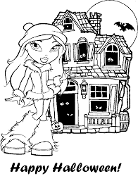 Bratz Halloween Coloring Pages