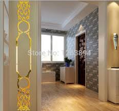 Acrylic Wall Art Decorative Sticker Laser Cut Plastic Mirror Decoration For Living Room Decor