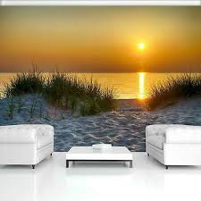 sonnenuntergang vlies fototapete dünen meer strand ostsee