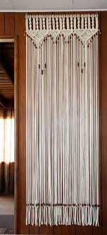 Bead Fringed Door Curtain Macrame For a Door With Tie Backs