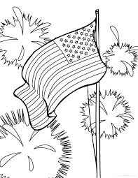 US Flag Coloring Pages PDF