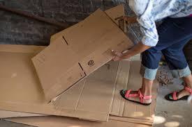 Diy Halloween Tombstones Cardboard by How To Make A Cardboard Play Camper Hgtv