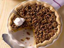 Pumpkin Pie With Pecan Praline Topping by Michele Albano U0027s Maple Pumpkin Pie With Pecan Streusel Recipe