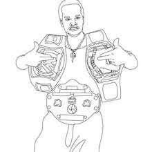 WWE Gold Belt Winner Coloring Page