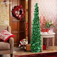 Ourwarm Christmas Tree Decorations Artificial Trees Pop Up 2018 New Year Decor For Home Easy To Store And Pull Wooden