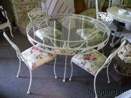 Vintage Wrought Iron Patio Furniture Woodard fancy vintage wrought iron outdoor table and chairs woodard