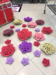 10cm 60cm Dia Wedding Custom Paper Flower Wall DIY Foam Backdrop Decoration Party
