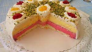 himbeer pfirsich torte