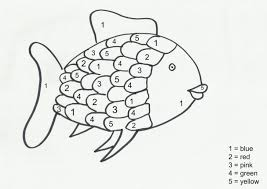 The Rainbow Fish Printables Here Come Girls Colour By Numbers Go Printable Template Animal