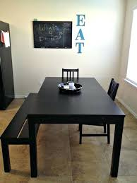 Ikea Dining Bench Modern Black Table For The Room Seating With Storage