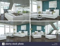 100 Interior Loft Design Four Views Of Modern Interior Loft Design Stock Photo