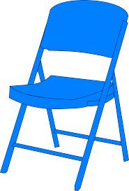 100 Folding Chair Art Blue Fold Up Clip At Clkercom Vector Clip Art Online