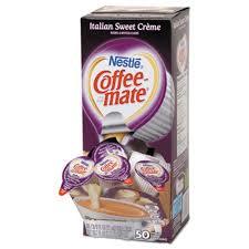 Coffee Mate Liquid Creamer Mini Cups Sweet Creme 50 Creamers NES84652