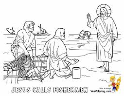 Coloring Download Jesus And The Fisherman Page Glorious Bible Free