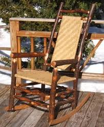 Rustic and stylish this sassafras rocking chair is a great addition
