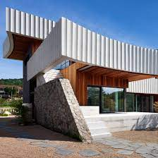 104 South Korean Architecture Ridged Ribbons Of Concrete Wrap House In Korea By Ode Architects
