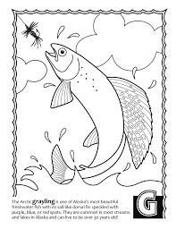 Alaska Fish ABCs Coloring Book
